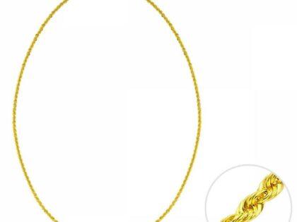 45 Cm Altın Lazer Halat Zincir