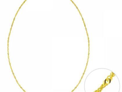45 Cm Altın Singapur Zincir 1