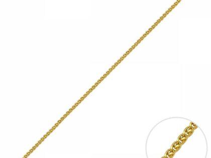 55 Cm Altın Spiga Traşlı Zincir
