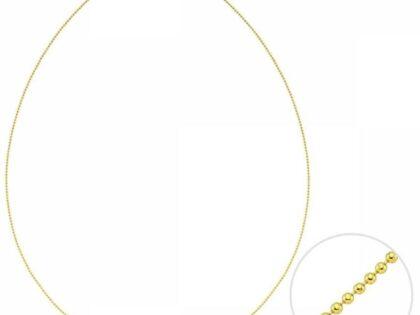 50 Cm Altın Top Zincir