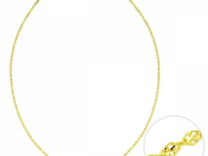 55 Cm Altın Yeni Singapur Dorica Zincir 2