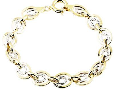 Altın Bileklik Hallow Tasarım 14K Sarı Beyaz