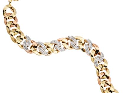 Altın Burgu Bileklik Taşlı 14K Gold