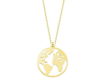 Altın Dünya Kolye 14K Gold