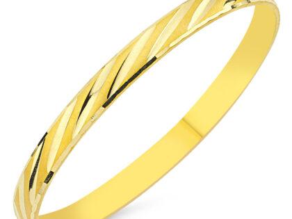Altın Hediyelik Tel Bilezik Çizgili