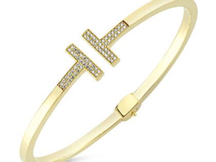 Altın Kelepçe Eklem Tasarım 14K Gold
