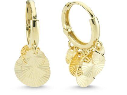 Altın Sallantılı Küpe Shakira Tasarım 5 Pullu