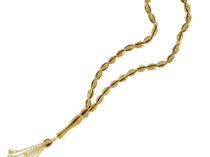 Altın Tesbih Telkari El İşleme Mineli