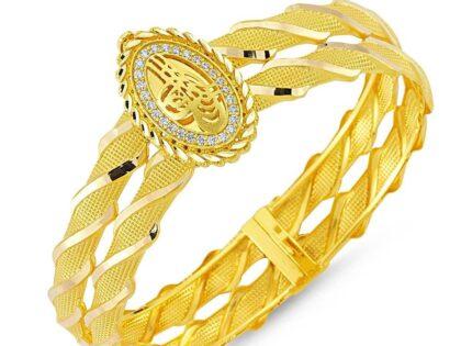 Altın Tuğralı Kelepçe Oval Jessica