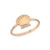 Altın Yüzük 14K Rose Deniz Kabuğu