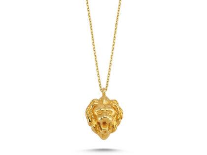 Aslan Altın Kolye 14K Gold