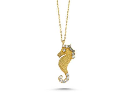 Deniz Atı Altın Kolye