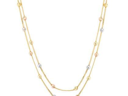 Dorika Altın Kolye (Çift Zincirli)