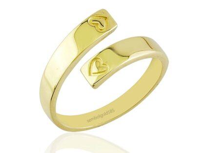 Eklem Altın Yüzük 14K Gold