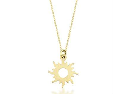 Güneş Altın Kolye Minimal Tasarım