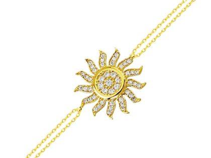 Güneş Altın Zincir Bileklik 14K Gold