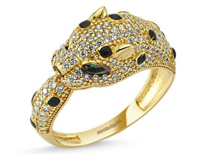 Kaplan Altın Yüzük Benekli 14K Gold