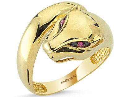 Kaplan Altın Yüzük Classic Gövdeli 14K Gold