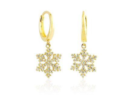 Kartanesi Altın Sallantılı Küpe 14K Gold