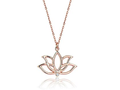 Lotus Pırlanta Kolye