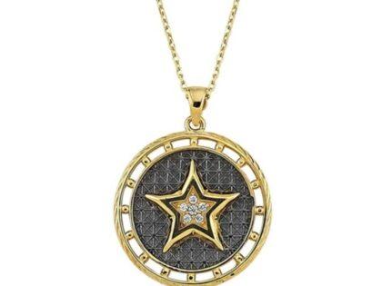 Madalyon Yıldız Altın Kolye
