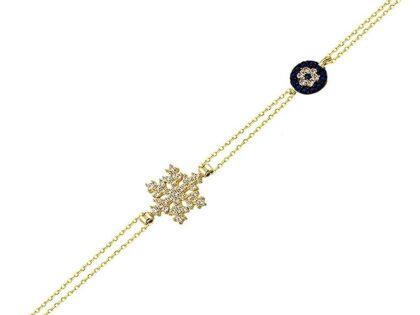 Sosyete Kartanesi Altın Zincir Bileklik 14K Gold