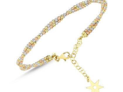 TriColor Altın Dorika Kelepçe İki Sıralı Kutupyıldızı
