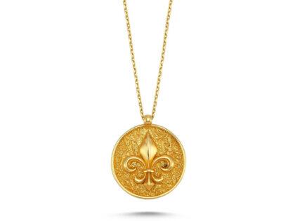 Zambak Çiçeği Altın Kolye 14K Gold